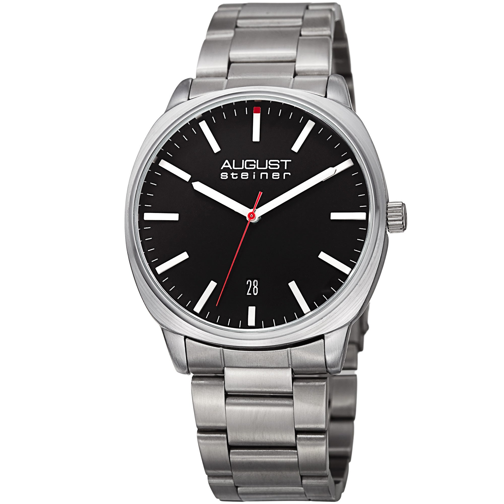 August Steiner Men's Classic Easy-to-Read Stainless Steel...