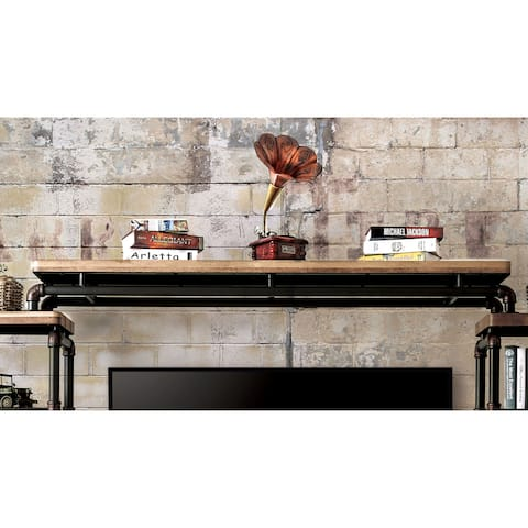 Furniture of America Wini Industrial Black Metal Pipe-inspired Bridge