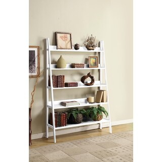 White Finished 48-inch Wide Wooden 5 Tier A-Shelf