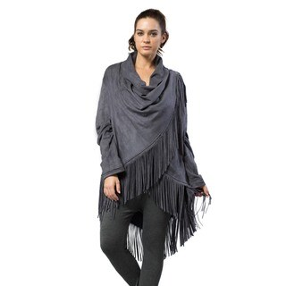 Morning Apple Women's Cardigan with Fringe