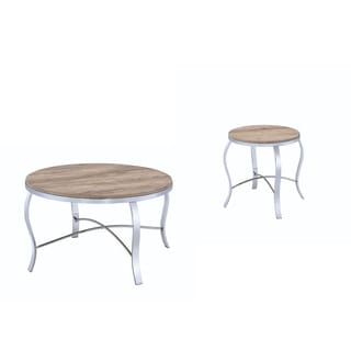 Acme Furniture Malai Brown Wood and Metal End Tables (Set of 3)