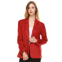 Morning Apple Women's Ualda Suede Blazer