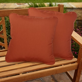 Sawyer Sunbrella Canvas Rust Indoor/ Outdoor 20 inch Corded Pillow Set