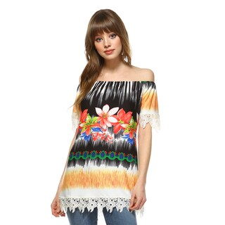 White Mark Women's Rosella Multicolor Top