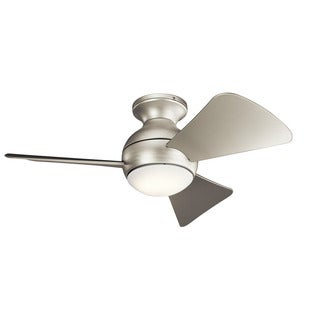 Kichler Lighting Sola Collection 34-inch Brushed Nickel LED Ceiling Fan
