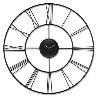 Infinity Instruments Modern Tower 45.25-inch Round Wall Clock