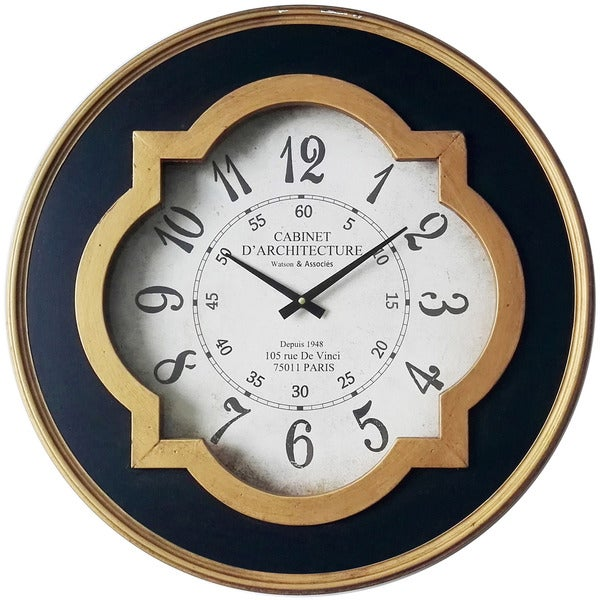 Infinity Instruments Quatrefoil Round Wall Clock Free Shipping Today Overstock