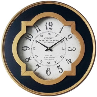 Infinity Instruments Quatrefoil 23.75-inch Round Wall Clock