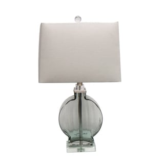 24-inch Table Lamp with Clear Glass Base