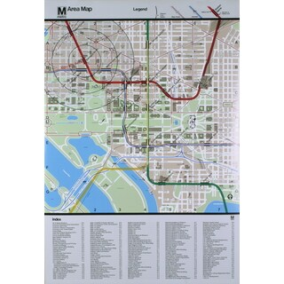 'Washington DC Area Map - The White House' 48.5-inch x 33.25-inch Serigraph Poster