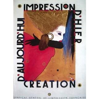 Razzia 'Impression D'Hier' 33.25 x 24.25-inch 1987 Poster