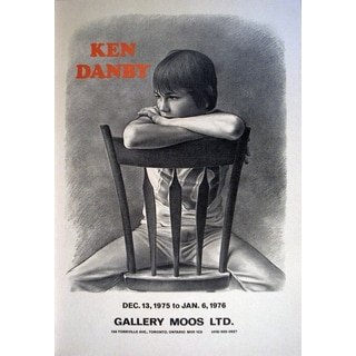 Ken Danby 'Girl at a Chair' 19.5 x 15.5-inch 1976 Poster