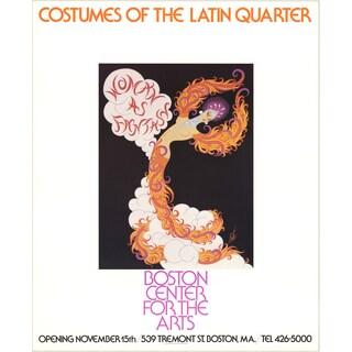 Erte 'Costumes of the Latin Quarter' 27.5 x 22.5 Poster