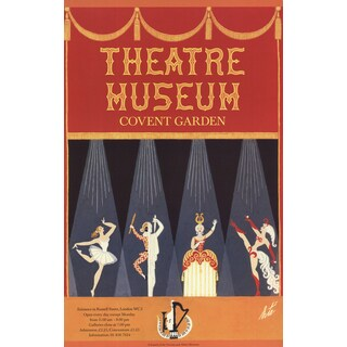 Erte 'Theatre Museum Covent Garden' 9.75-inch x 12.5-inch Poster