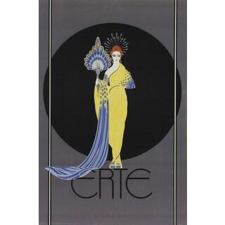 Erte 'Goddess in Yellow - 1982' Poster