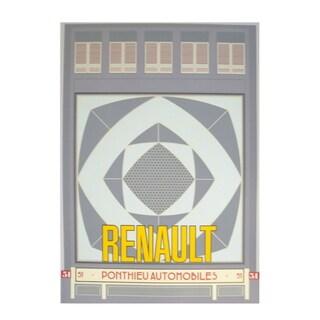 Neil Gower 'Renault Automobiles' 1986 Serigraph