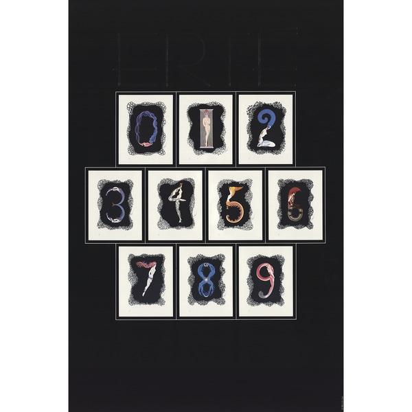 Erte 'Numbers' 1981 Poster, 36 x 24