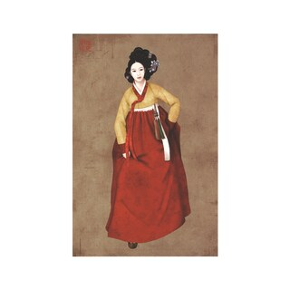 Ji Suyeon 'Untitled IV' Multicolored Giclee Art Piece