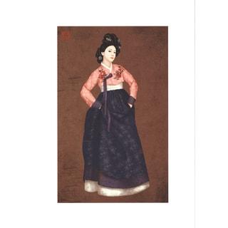 Ji Suyeon 'Untitled III' 12.25-inch x 17-inch Giclee Art Print