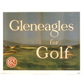 British Rail 'Gleneagles For Golf' 25-inch x 31-inch Lithograph Poster