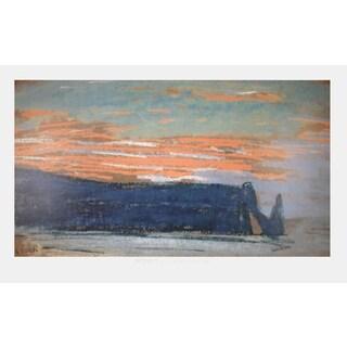 Claude Monet 'La Falaise D'Etretat - 1997' 33-inch x 53.5-inch Poster