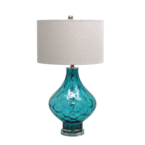 26.25-inch Turquoise Glass Table Lamp