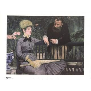 Edouard Manet 'Im Wintergarten' Poster