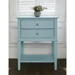 Ameriwood Home Transitional Franklin Accent Table with 2 Drawers