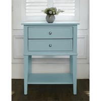 Ameriwood Home Transitional Franklin Accent Table with Two Drawers