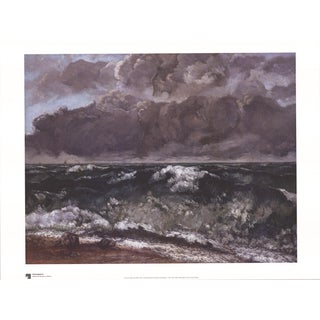 Gustave Courbet 'Die Welle' 23.75 x 31.5-inch Poster
