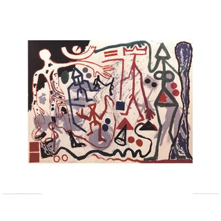 A.R. Penck Multicolored Modern Offset Litograph Poster