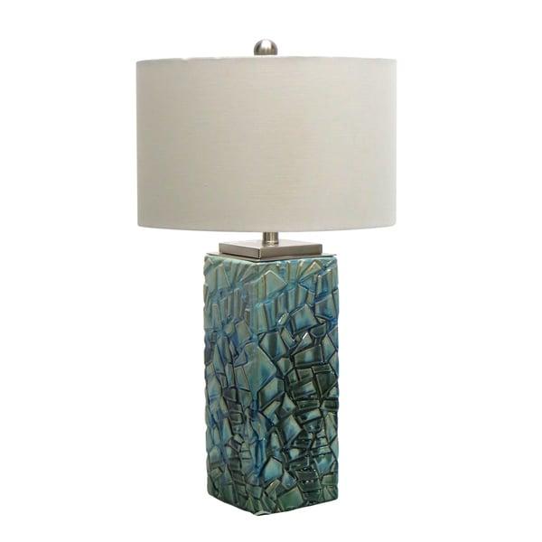 29-inch Aqua Ceramic Table Lamp