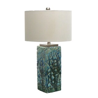 29-inch Aqua Ceramic Table Lamp