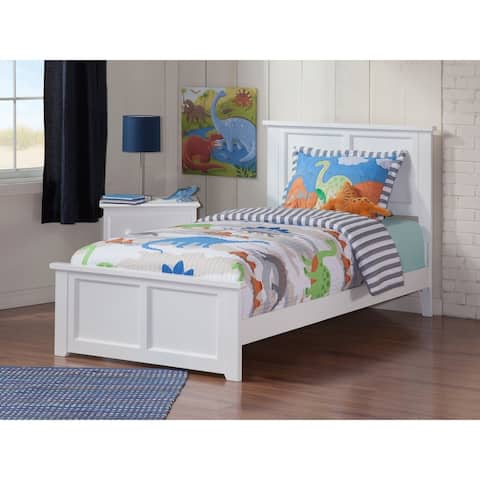 Atlantic Madison White Twin Bed with Matching Footboard