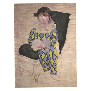 Pablo Picasso 'Paul en Arlequin' 2014 Poster Wall Art