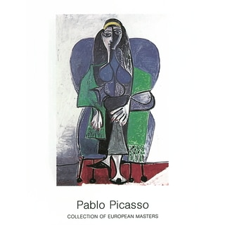 Pablo Picasso 'Femme Assise a L'echarpe Verde' 35.5-inch x 27.5-inch Poster