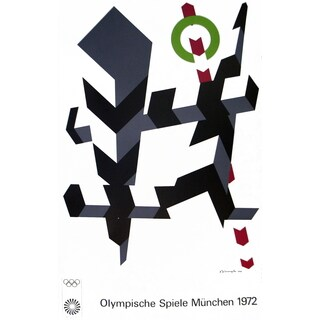 Allan D'Arcangelo 'Munich Olympics-1972' 39.75-inch x 25-inch Serigraph Print