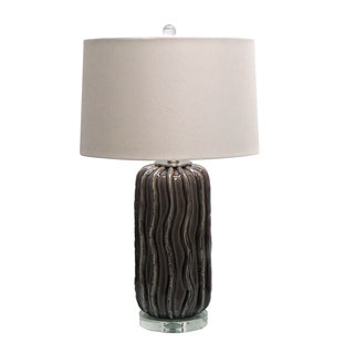 27.75-inch Ceramic Table Lamp with Crystal Base