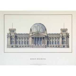 Berlin Reichstag 19.5-inch x 27-inch Lithograph Poster