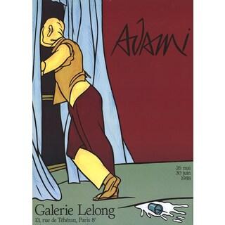 Valerio Adami 'Galerie Lelong' 1988 Lithograph Poster