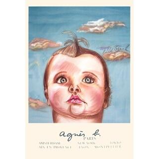 Diane Chanel 'Agnes B, le Bebe Cruel' 39-inch x 27.5-inch Lithograph