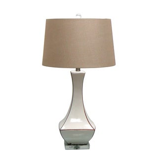 27.50-inch Ceramic Table Lamp with Crystal Base