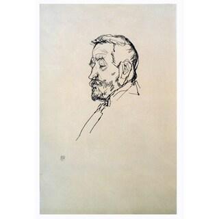 Egon Schiele 'Portrait of Heinrich Benesch' 19.5 x 13.5-inch 1968 Lithograph