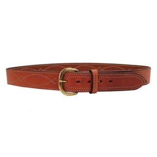"""Bianchi B9 Fancy Stitched Belt Tan Tan, 32"""""""