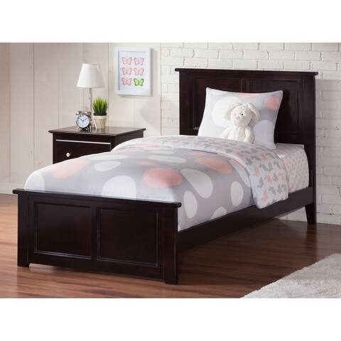 Atlantic Madison Espresso Twin Bed with Matching Footboard