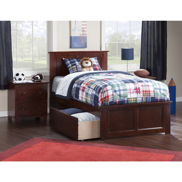 Shop Madison Twin Xl Platform Bed With Matching Foot Board