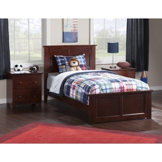 Atlantic Madison Walnut Twin XL Bed with Matching Footboard