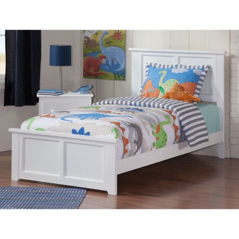 Atlantic Madison White Twin XL Bed with Matching Footboard