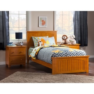 Atlantic Nantucket Caramel Latte Twin Bed with Matching Footboard