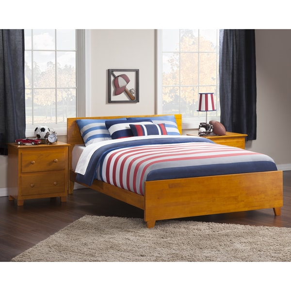Rich Caramel Finish Classic Bedroom Set W Options: Shop Orlando Full Bed With Matching Foot Board In Caramel